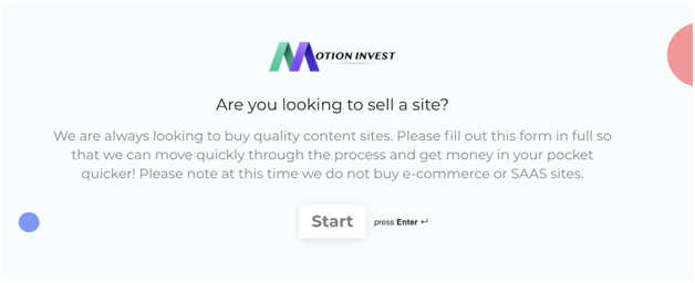Are you looking to sell a site