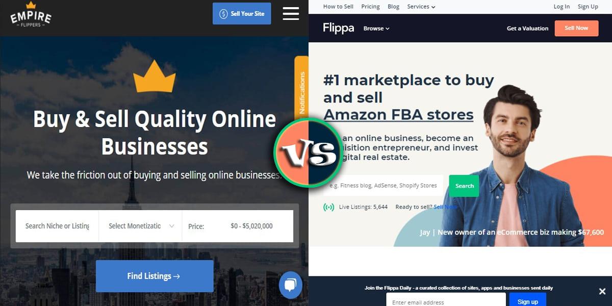 Empire Flippers vs. Flippa
